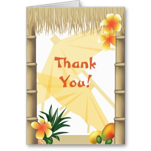 Greatest 20 best Luau Thank You Cards images on Pinterest | Luau, Index  KK14