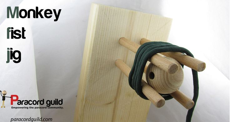 How to make a paracord monkey fist jig.