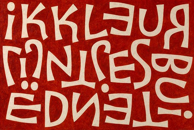 :: Liesbet Boudens Letters :: Acryl on canvas