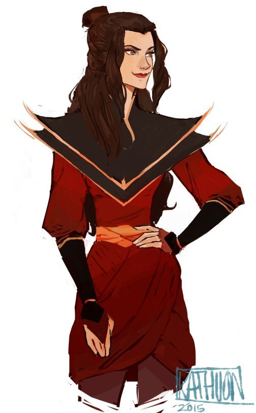 "kigozulaa: ""I loved these Azula fanarts so much from Kathuon! Her clothes and hairstyles are always so creative and"