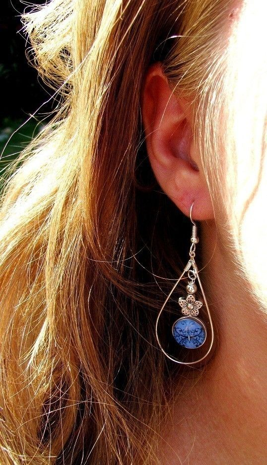 So pretty!  Butterfly Wishes earrings by caughtredhanded on etsy