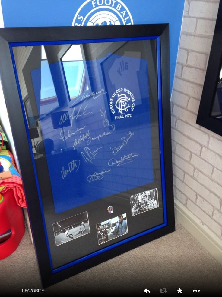 Top badge and pictures framed with matching slip frame