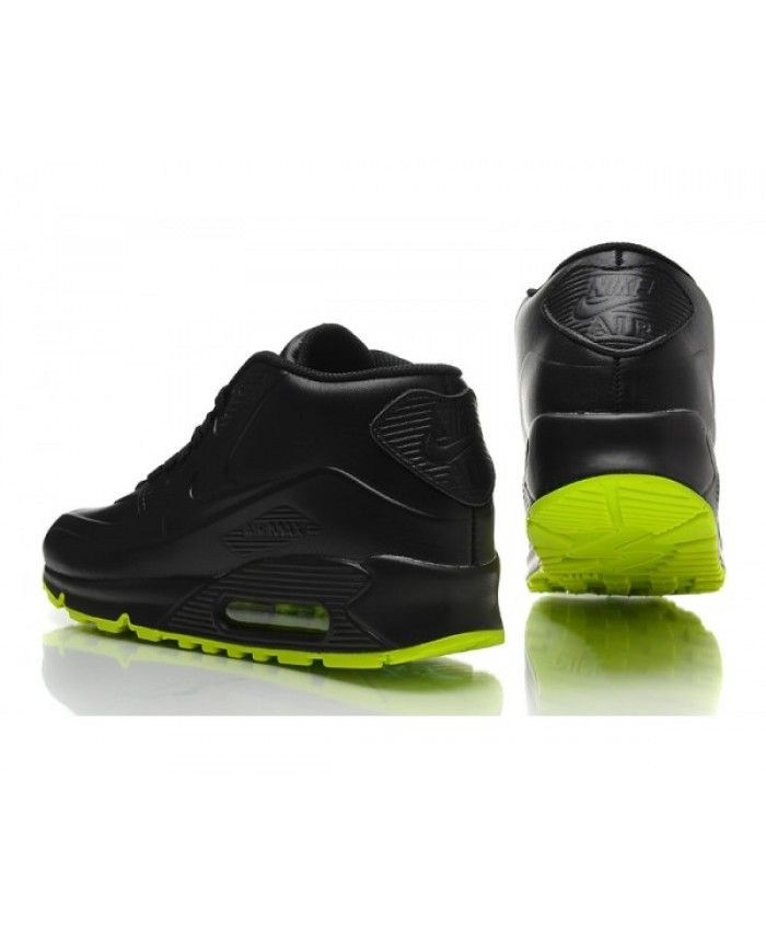 best cheap cbb99 04e6c Mens Nike Air Max 90 Black Green 6809331-098