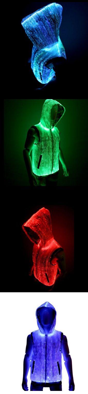 Luminous fashion!!  Fiber Optic Light Up Mens Hoodie