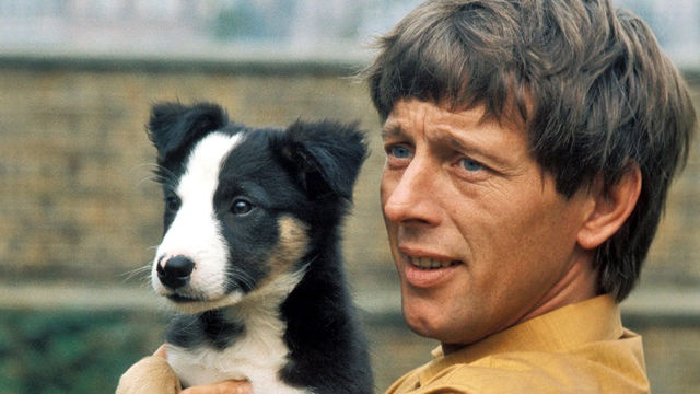 John Noakes...who is now 80 (2014).  And his Blue Peter dog, Shep
