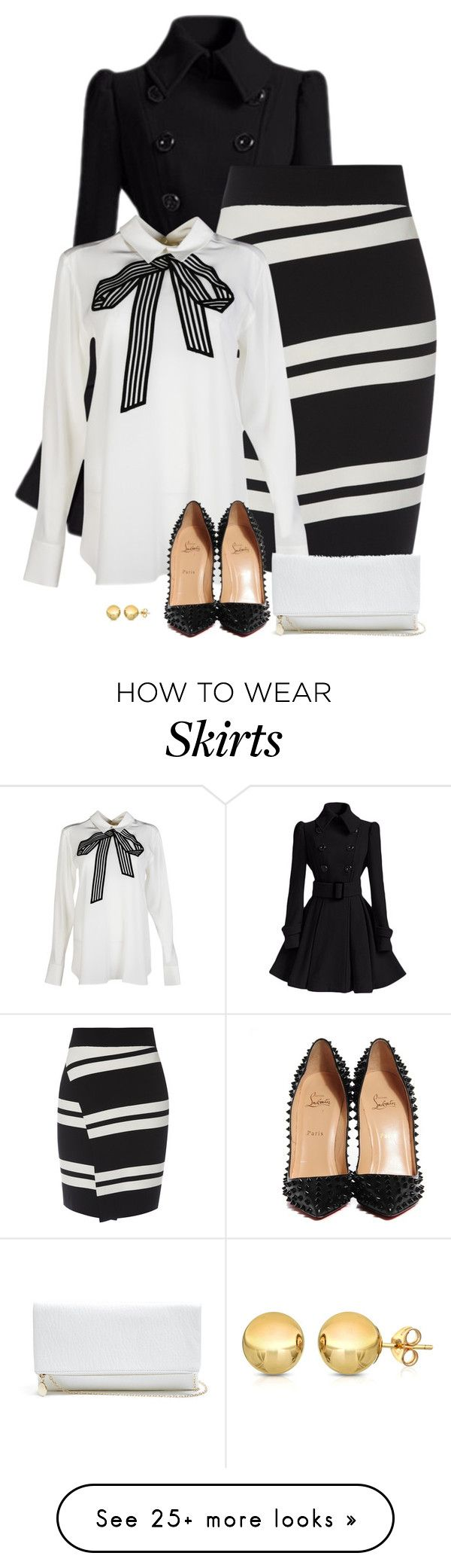 """it's snowing!"" by divacrafts on Polyvore featuring STELLA McCARTNEY, Christian Louboutin, GUESS, Sevil Designs and Original"