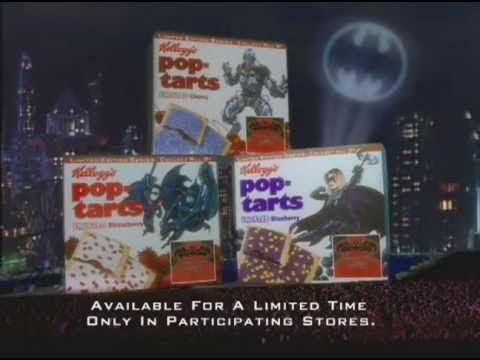 """Old Pop Tart commercial for Batman and Robin: I remember seeing this in 1997 and thinking """"Wonder when the new Batman movie will come out?"""" 8 years later, Batman Begins...quite a long wait."""
