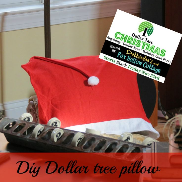 $1.00 #Christmas Pillow. It's Going To Be A #Dollar #tree