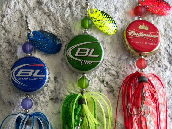 "Mens Gift for Him ""The Original Spinning Bottle Cap"" 3pk. Fishing Lures by Luregasmic on Etsy, $24.00"
