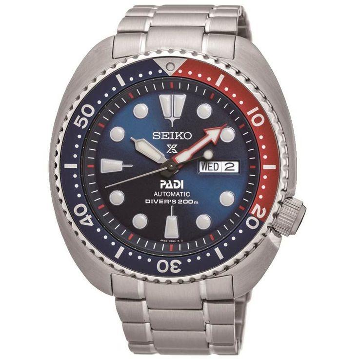 Seiko PADI Prospex Automatic 200m Divers Mens Watch SRPA21K1 #Seiko #PADI #SeikoWatch #Silver #DiversWatch