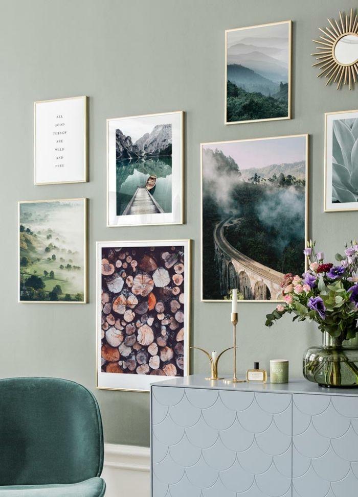 1001 Ideen Fur Bilder Furs Wohnzimmer Die Stylisch Und Modern Sind In 2020 Bilderwand Bilder Wohnzimmer Inspiration Wand