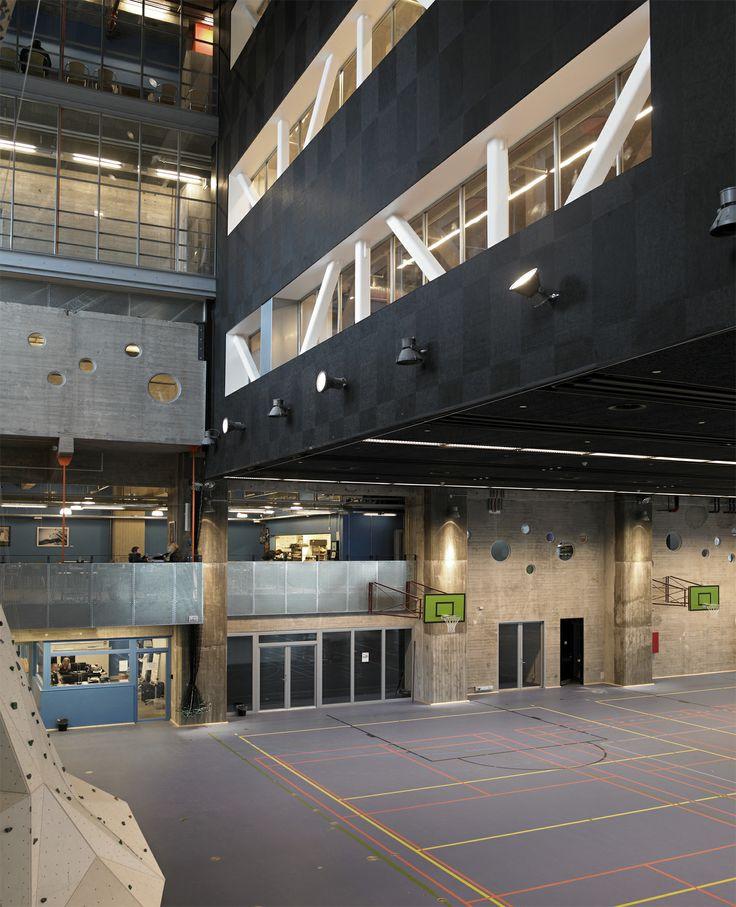 Inside Nordkraft, Aalborg. DGI (Danish sports associations). Architecture photography by Helene Høyer Mikkelsen