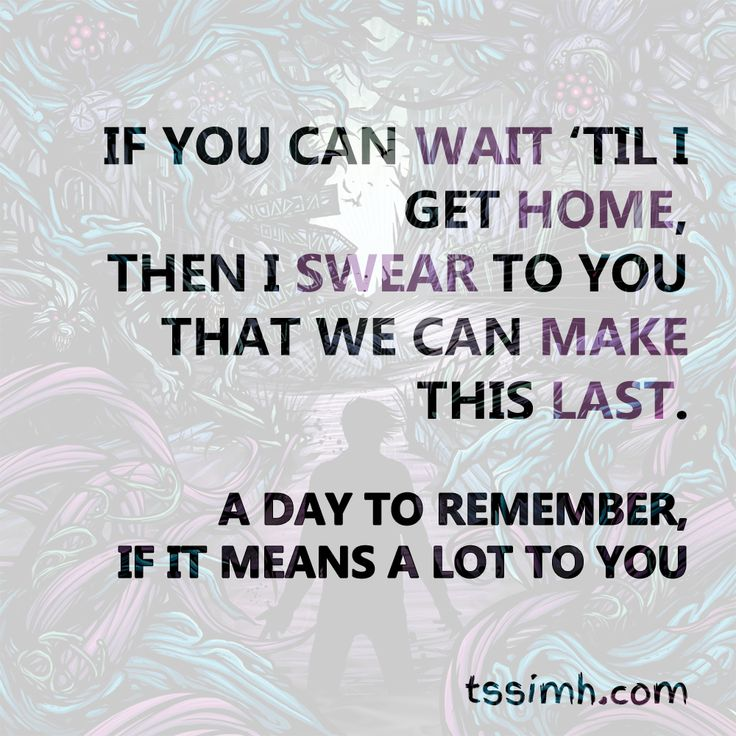 A Day To Remember - If It Means A Lot To You | ADTR ... A Day To Remember Lyrics If It Means Alot To You