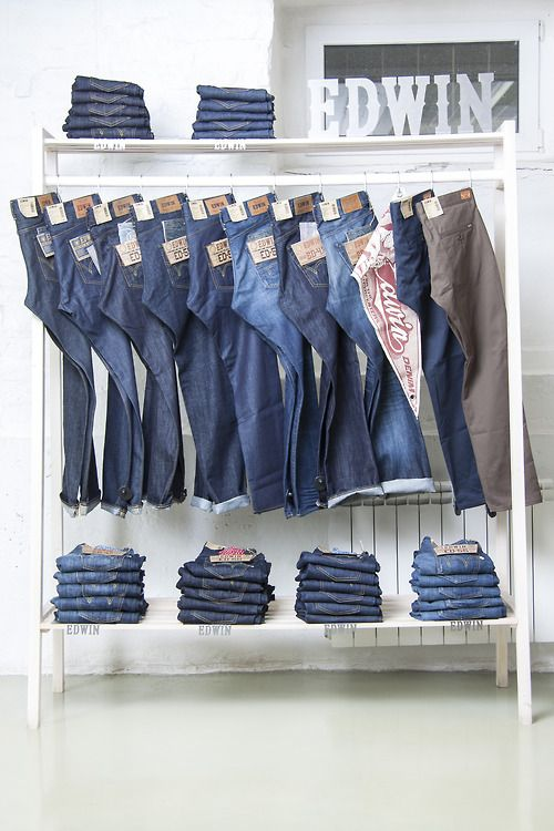 Pants/denim display idea TheDenimIndustry.com