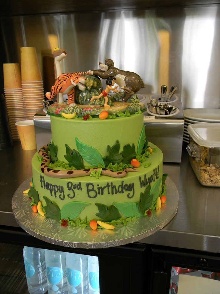 cake jungle book birthday cake 4th birthday birthday cakes birthday ...