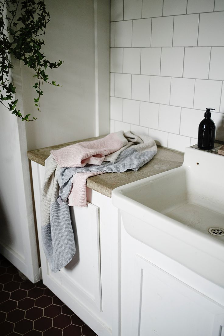 TERVA towels woven by Lapuan Kankurit in Finland.