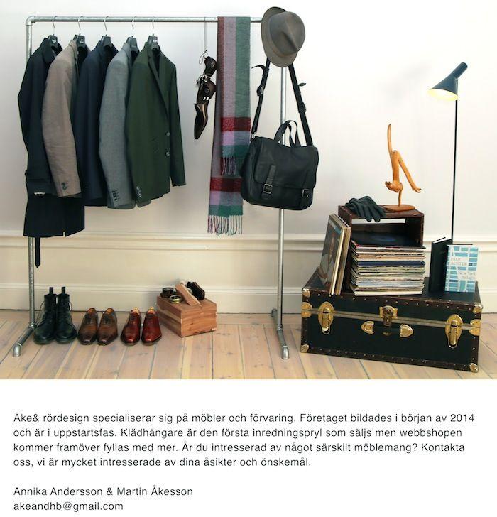 klädhängare rör www akeand se Interior design Pinterest