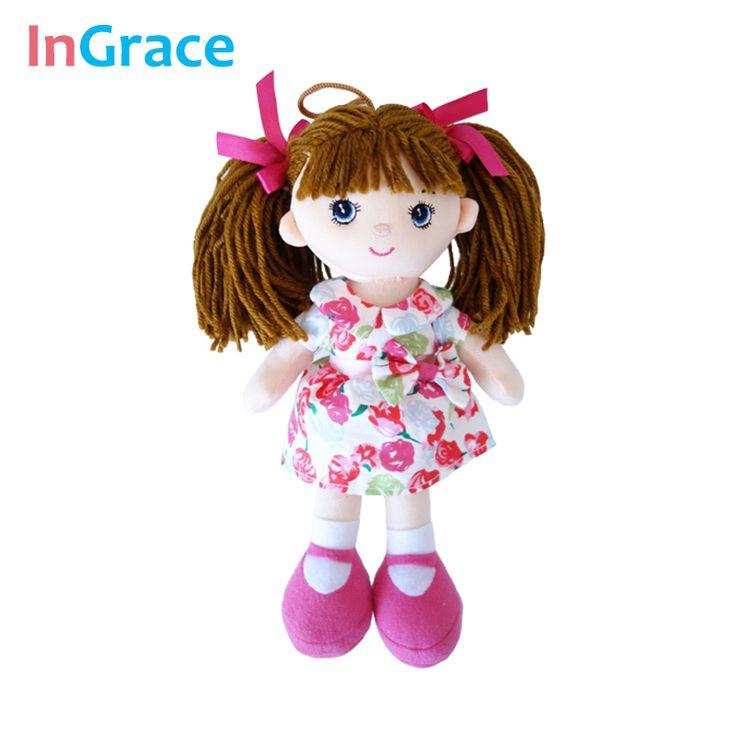InGrace soft fashion girls mini bambole peluche e farcito fiore vestito ragazze giocattoli regali di compleanno della neonata prima bambola mini 25 CM