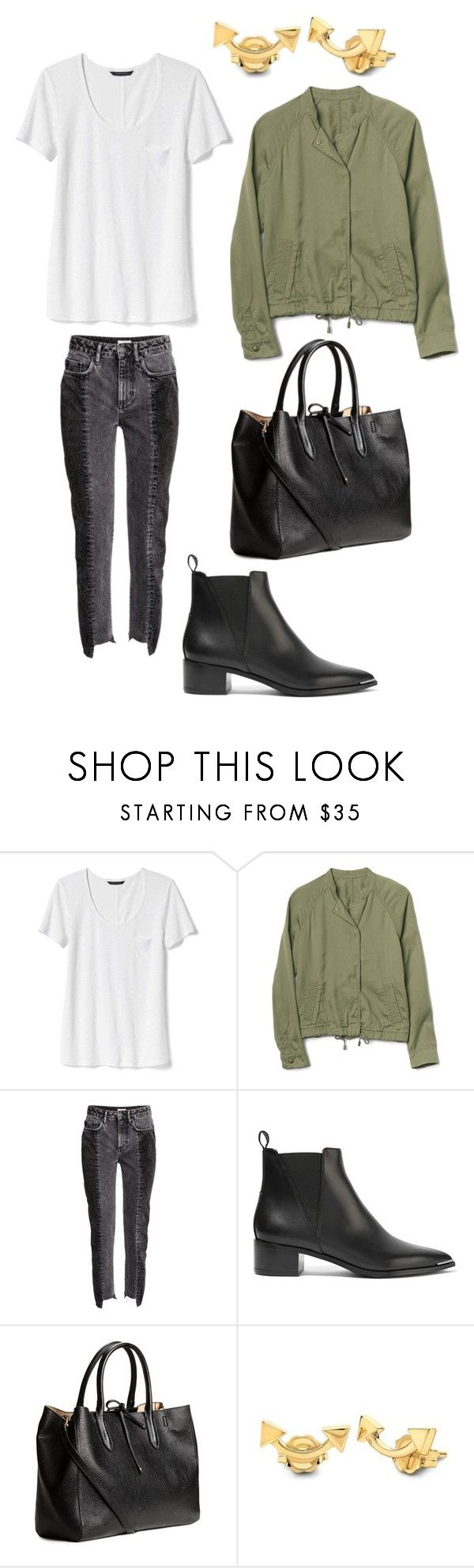 """""""210118"""" by blindressource ❤ liked on Polyvore featuring Banana Republic, Gap, H&M, Acne Studios, Missoma, HM, zara, parka and acne"""