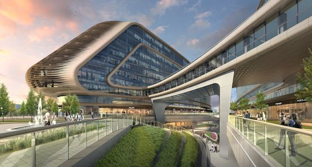 Futuristic Sky SOHO by Zaha Hadid Architects, Shanghai, China