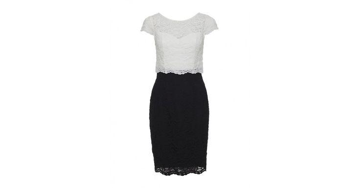 Review Australia | Golightly Lace Dress  Black/cream