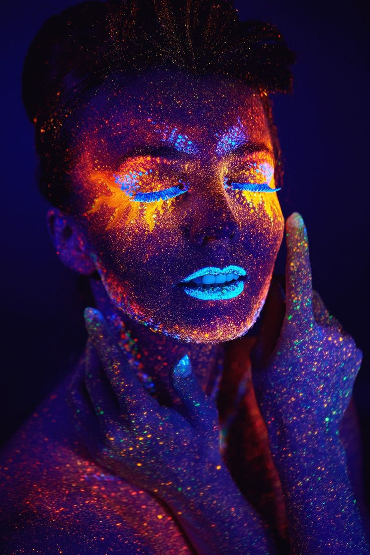 close up UV portrait