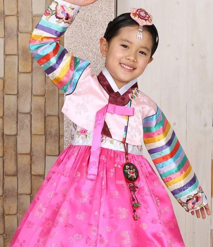 Girl dress Hanbok Korean traditional clothes 4015 wedding Party Korea Baby #FairyCloset #KoreanHanbokDress
