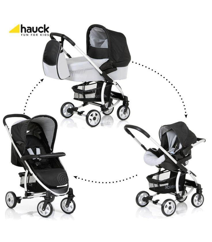 Hauck Malibu Travel System - Caviar/Silver | Kiddicare