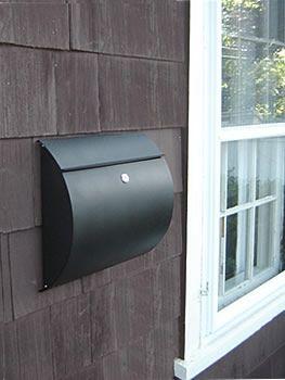 Spira Spira Black Wall Mount Mailbox Wall Mounted Mailboxes |  Seattleluxe.com