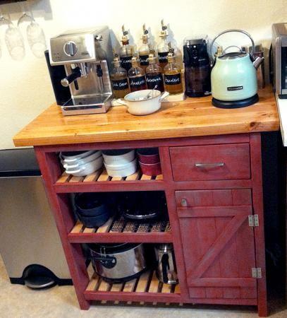 Coffee Bar Based On Easy Kitchen Island Do It Yourself