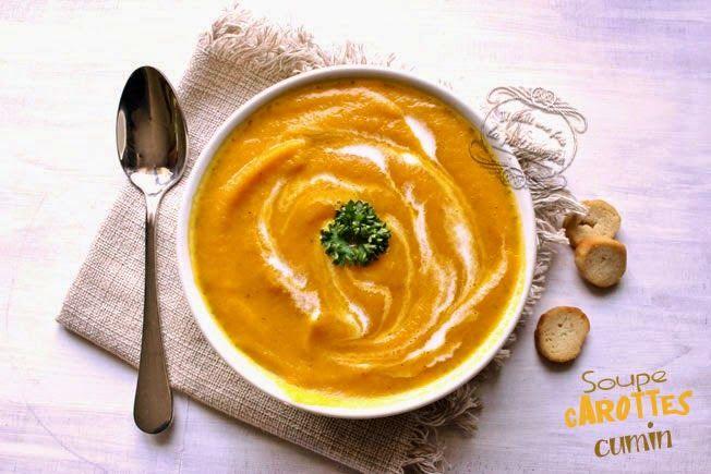 Soupe carotte cumin au blender chauffant : Il était une fois la pâtisserie