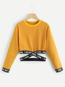 Blackpink Cropped O-Neck Sweatshirt Women Kpop Long Sleeve Sweatshirt 2019 Hot Sale Casual Streetwear Clothes Size From S to -82