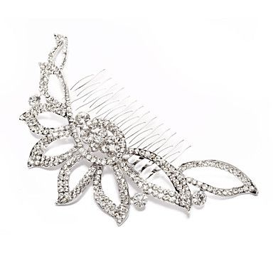 Alloy With Rhinestone And Pearl Bridal Comb - USD $ 17.59