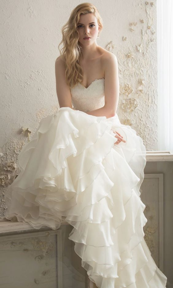 Featured Dress: Saison Blanche Couture; Wedding dress idea.
