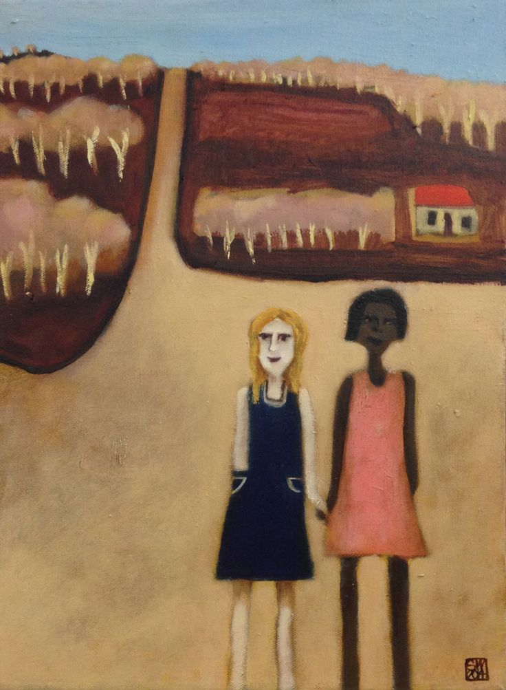 """Besties"" - oil on canvas - 40 x 30 cm 2014 - sold"