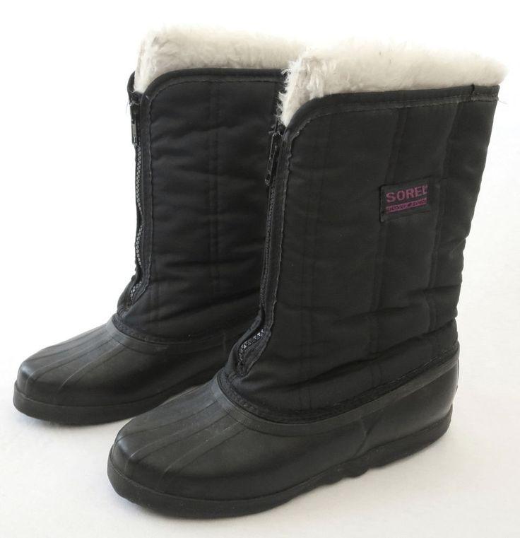 SOREL 7 Canada Kaufman Black Insulated Snow Rain Winter