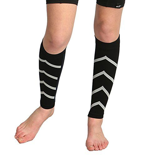 IKuaFly Calf Compression Sleeves For Women High Quality Running Accessories and Unique Reflective Strip Design