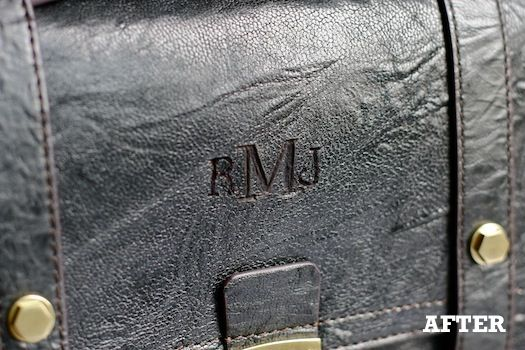 Monogram bag DIY