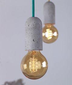 Industrial Style Hanging Light Pendants   Flex Cord   Vintage Atmospheric Lighting   Reclaimed   Concrete   Original   Loft Living   Warehouse Home Design Magazine - More industrial lighting examples on http://www.stylingblog.nl