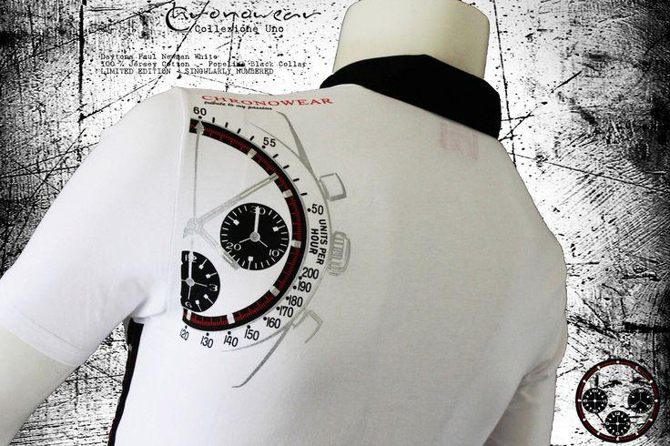 POLO CHRONOWEAR ROLEX DAYTONA PAUL NEWMAN - White  - infos: info@chronowear.it