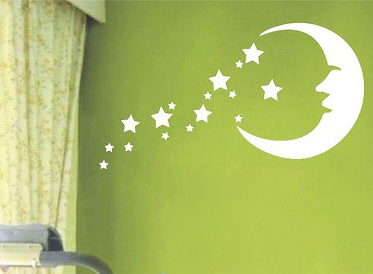 Duvar Stickerı - Ay ve Yıldızlar #duvarsticker #dekorasyon #dekoratif #çocukodası #wallsticker #sticker #kidsroom #roomdecoration #walldecoration #duvardekorasyonu