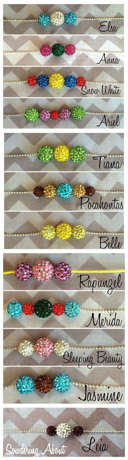 Sowdering About: Disney inspired princess necklaces