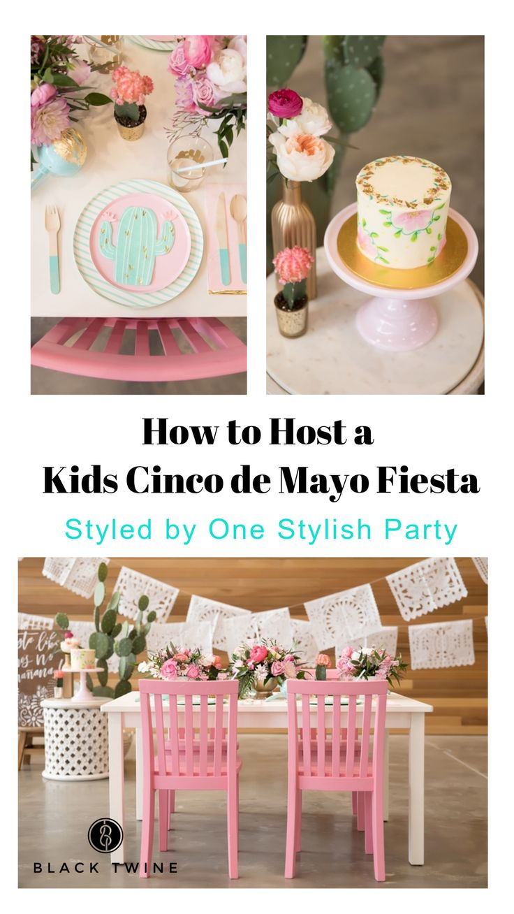 How to Host a Kids Cinco de Mayo Party Fiesta by One Stylish Party | Black Twine #cincodemayo #cincodemayoparty #cincodemayopartyideas #fiesta #partyideas #partyplanning #party #kidsparty