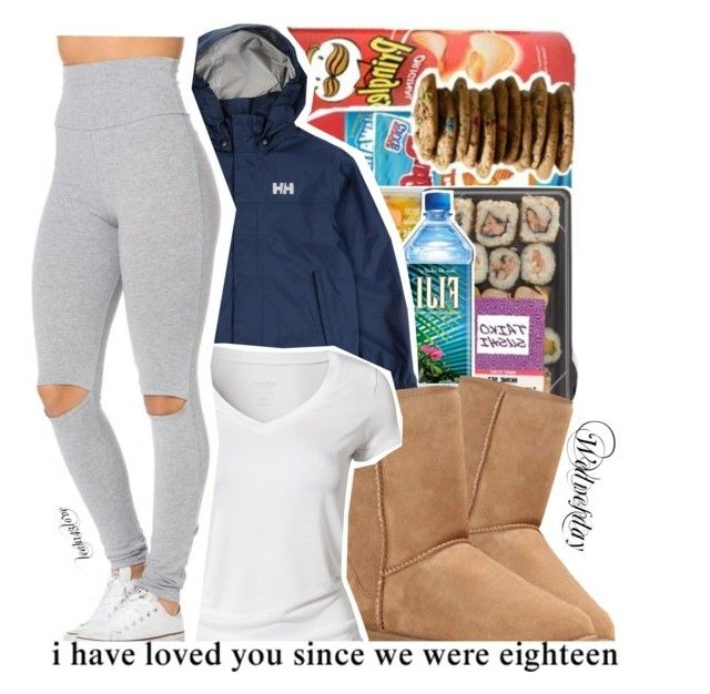 """Outfit today"" by leah143love ❤ liked on Polyvore featuring UGG Australia, Helly Hansen and Calvin Klein"