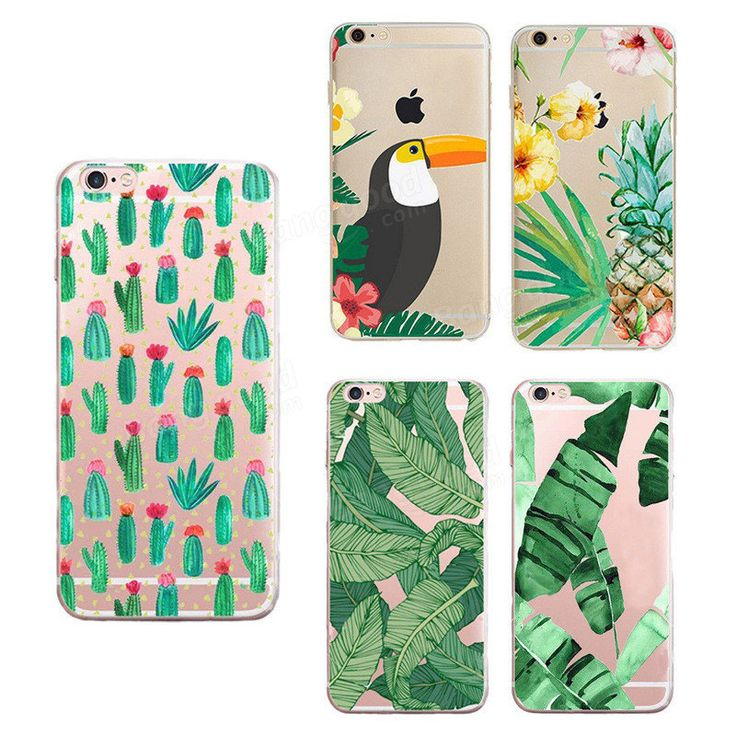 TPU Cacti Leaf Pineapple Pattern Shockproof Back Case For iPhone 7 4.7 Inch…