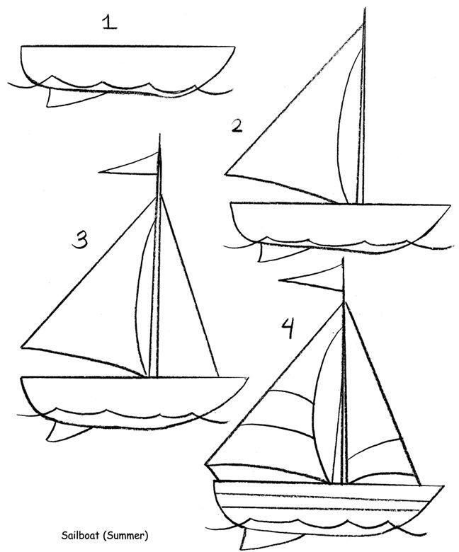 Line Drawing Ship : Bootje tekenen leren pinterest tes