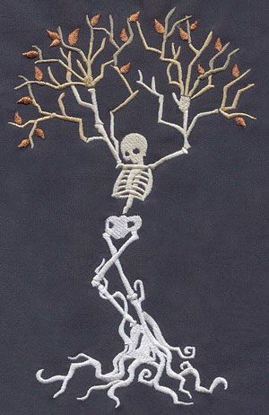 Embroidery Designs at Urban Threads - Skeleton Tree