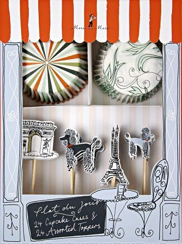 Cupcake Toppers, Oh Paris Cupcake Kit, Meri Meri New Pack of 1 by Meri Meri, http://www.amazon.com/dp/B009LESOVI/ref=cm_sw_r_pi_dp_toChsb0EMREM4