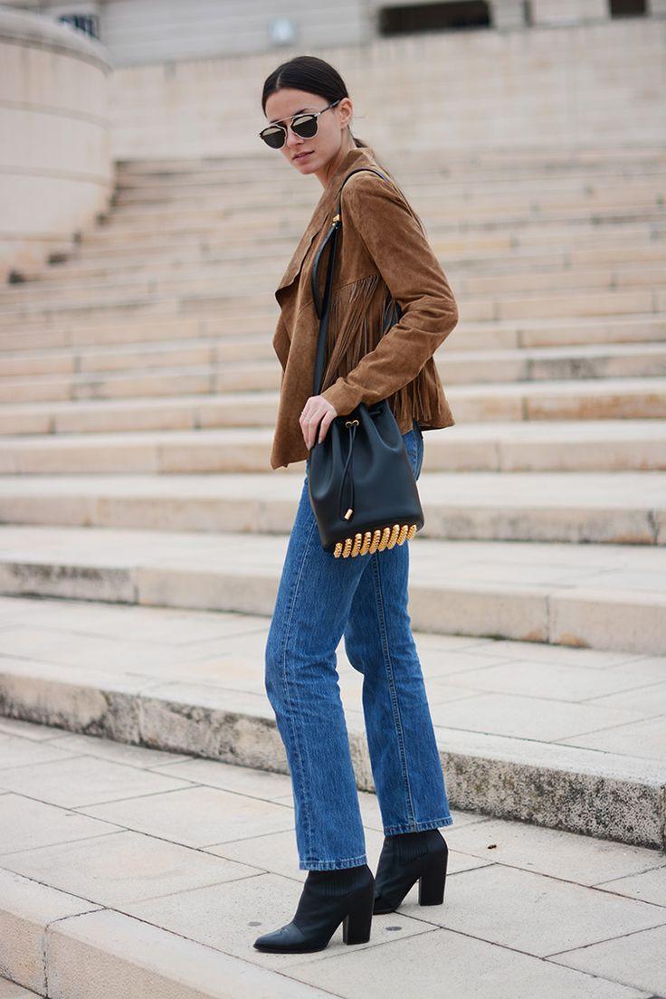 The Fringe Jacket      Posted by fashionvibe     On November 5, 2015 | Jacket: El Corte Ingles // Jeans: Levi's // Bag: Alexander Wang // Shirt: Zara // Sunglasses: Dior // Boots: Kenzo