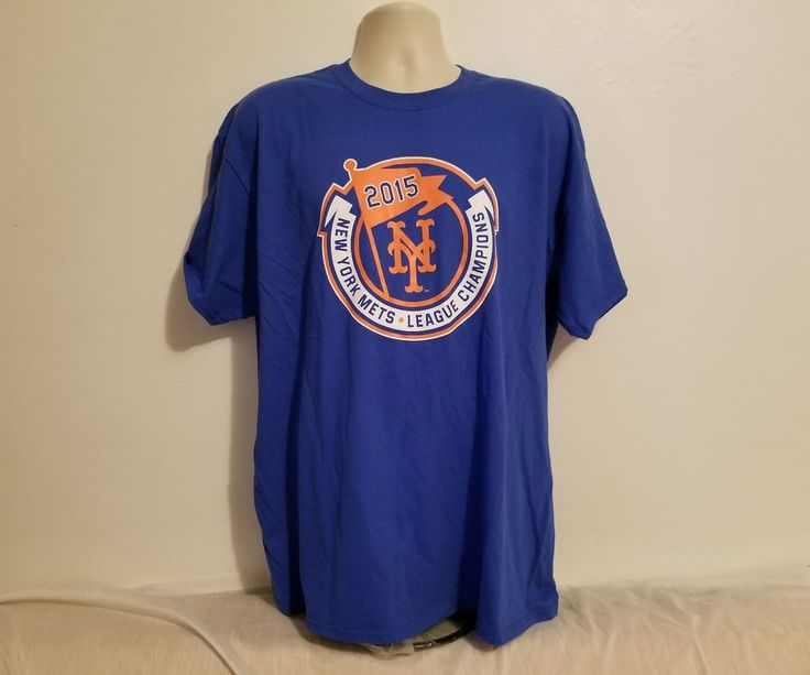New York Mets 2015 National League Champion SGA Adult Blue XL TShirt #Gildan #NewYorkMets